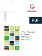 5-Year Planning Statement 2019-2023 (Electricity)