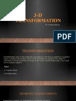 3-d Transformation