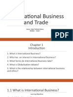 International Business and Trade