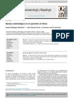 Rodríguez Martínez, S., Talaván Serna, J., & Silvestre, F.-J.. Manejo odontológico en el paciente cirrótico. Gastroenterología y Hepatología, 39(3), 224–232. doi-10.1016_j.gastrohep.pdf