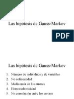 Las hipótesis de Gauss-Markov