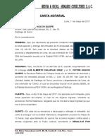 CARTA NOTARIAL DESALOJO ROSA LUQUE