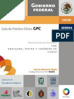 GPC Restauraciones dentales con Amalgama, Resina y Ionomero de vidrio