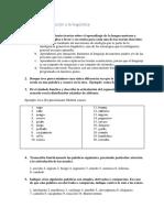 Worksheet Introducción a la lingüística (1)