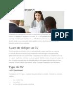 Comment réussir son CV v1.0