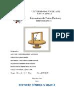 REPORTE PRÁCTICA PÉNDULO SIMPLE