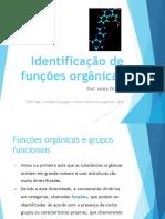 Identificação de funções orgânicas - SLIDE