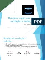Reações orgânicas de oxidação e redução - SLIDES