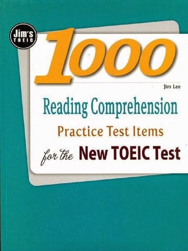 1000 Reading Comprehension Practice Tests For The New Toeic Test Toeic reading test pdf