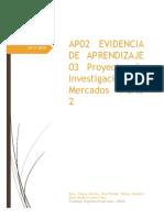 AP02 - EV03 Proyecto de Investigaciíon de Mercados Parte 2  V 1.1. 28112020