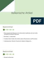 balkanische artikel