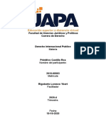 Primitivo  - Derecho Internacional Publico  - Tarea I