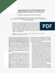 Pembangunan Kinerja Sektor Publik melalui Sistem Pembangunan Manusia dalam Lean Manajemen