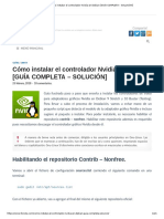 Cómo instalar el controlador Nvidia en Debian [GUÍA COMPLETA – SOLUCIÓN].pdf