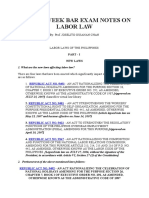 2009 PRE-WEEK REVIEWER ON LABOR LAW Q&A