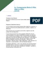 Rito Francês Comparação Entre O Rito Moderno Belga e o Rito Moderno Francês
