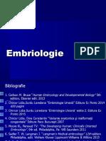 Embriologie curs 1 si 2