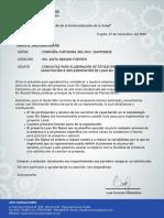 CARTA N° 0012-2020-SIG-CA - Consultas para Cotizar Lean Six Sigma