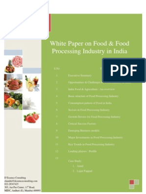 White Paper Food Processing1 8 | Drink | Dairy