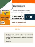 10088690_10. Clasificacion de la cartera de creditos segun Resolucion SBS N° 11356-2008.