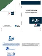 Manual Do Proprietário - v-STROM1000A XT