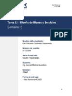 Karl Gutierrez _31121344 _Diseño de Bienes y Servicios_Tarea 5.1_S5