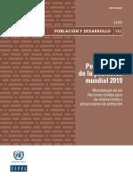 perspectivas de la población mundial 2019 cepal