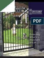 On Guard Fence Brochure