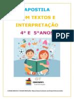 APOSTILA DE TEXTOS E INTERPRETAÇÃO 4 E 5 ANOS COM FONTE