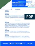 Mantenimiento programado en zonas específicas (26 octubre - 01 noviembre)