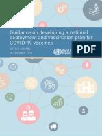 WHO 2019 NCoV Vaccine Deployment 2020