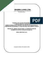 DISEÑO DE MEZCLA 2500 PSI - ARGOS - LLINAS - BRICCON ABOCOL - 29 Octubre 2011