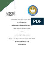 PRÁCTICA 2; FUERZAS INTERMOLECULARES Y SOLUBILIDAD