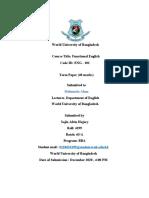 Term paper (ENG -101)