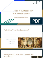 Venetian Courtesans in the Renaissance