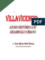 Villavicencio Asomo Historico a su Desarrollo Urbano