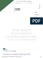 Artigo_ Criando um relatório PDF com PHP - Gigasystems