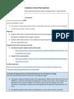 vocabulary activity planning sheet