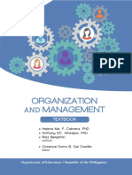 Organization and Management - Learner's Material