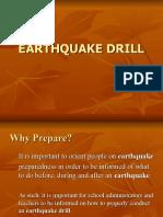 SCHOOL EARTHQUAKE DRILL