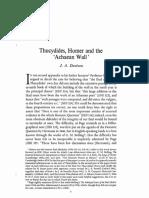 Thucydides, Homer and the Achaean Wall
