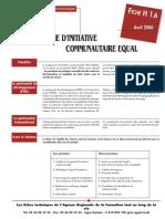 Appel programme EQUAL_Fonds social européen (FSE)