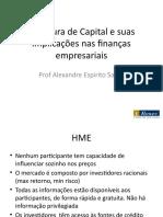 Estrutura de Capital e suas implicações nas finanças