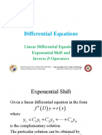 Differential Equations - Exponential Shift and Inverse D Operators