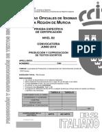 ITALIANO B2 JUNIO 2019 PCTE