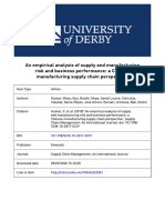 Analysis of Supply and Manufacturing Journal