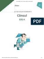 """Personalidade """"Cônsul"""" (ESFJ-A _ ESFJ-T) _ 16Personalities"""