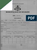 Proyecto de Ordenanza :Acuerdo con el Rincón Club de Campo y el gobierno municipal neuquino
