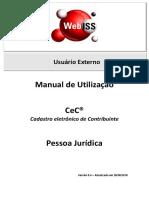 Manual WebISS V5 - Solicitação de CeC - Pessoa Jurídica - Versão 5.2
