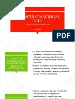 CURRÍCULO NACIONAL Arte y cultura 2016